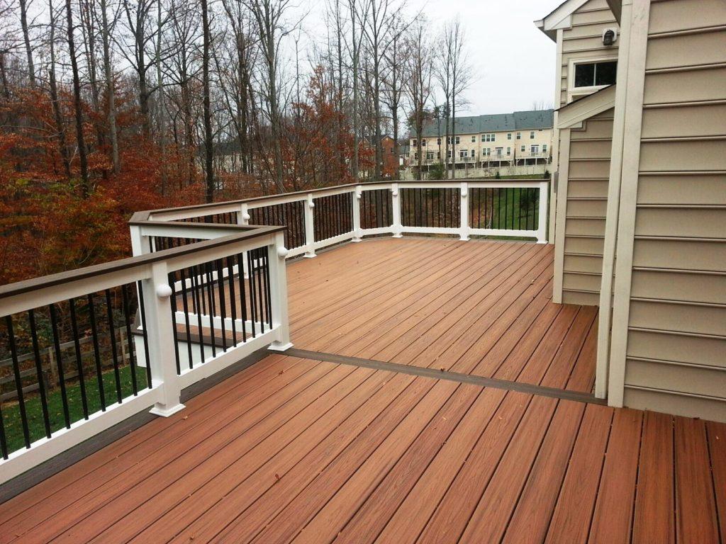 deck installation in winter
