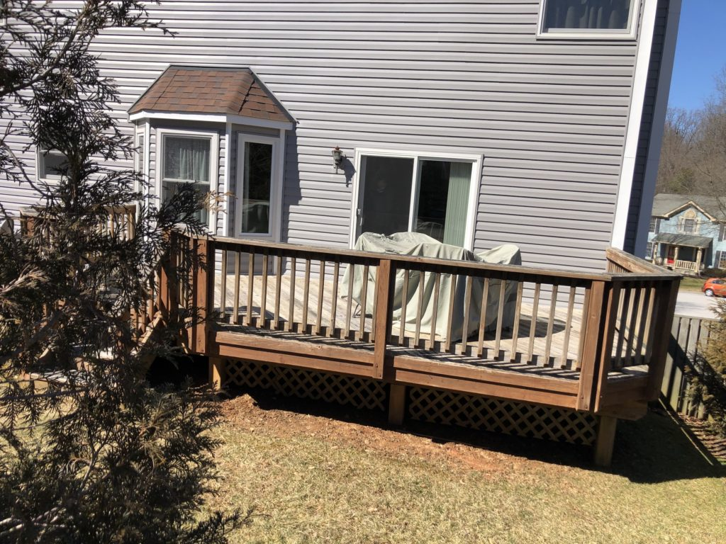 wood deck in Columbia, Maryland