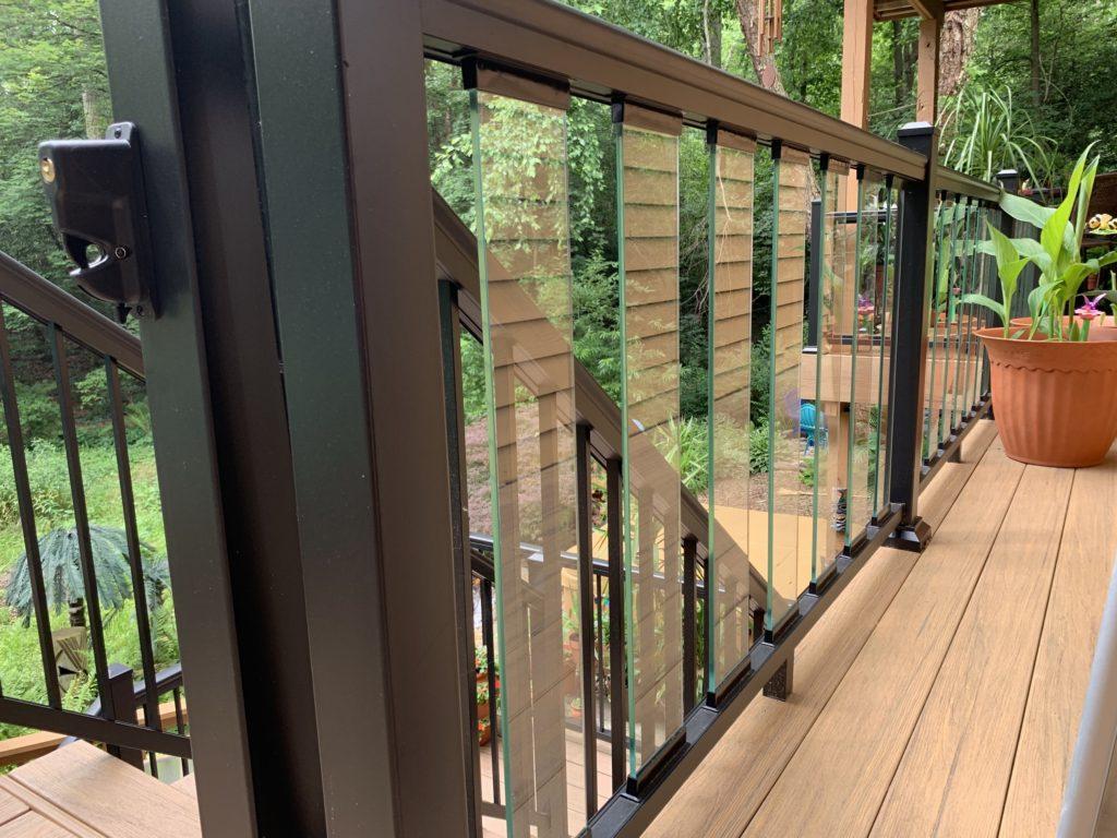 glass slat railing in Maryland