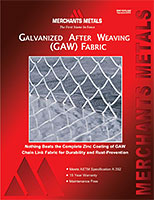 Galvanized After Weaving