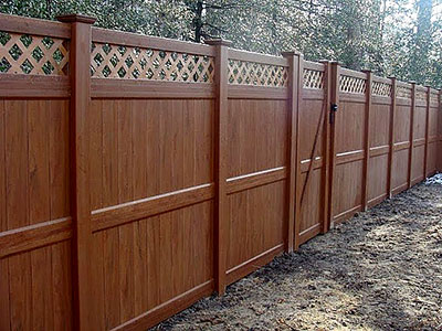 Vinyl Lattice Fence