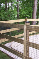 Pool Code wood fences for pools