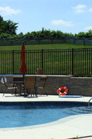 Pool Code aluminum fences for pools