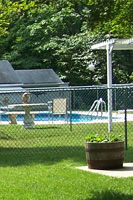 Pool Code chain link fences for pools