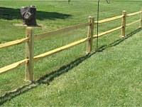 <b>2 Rail Split Rail Wood Fence</b>