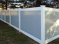 <b>PVC Privacy Fence - 5 Foot 2 Tone White and Gray Vinyl Privacy Fence</b>