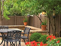 <b>Walnut Brown Ashland Simtek Fence backyard</b>