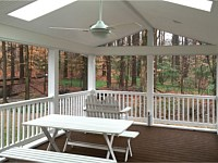 <b>Maximize your porch's electrical capabilities for ultimate comfort with electrical outlets, fan outlets and recessed lighting. Add skylights for additional light as well as enhance the porch's overall open and airy feel.</b>