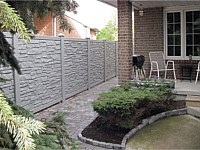 <b>Grey Granite Ecostone  Simtek Fence</b>