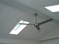 <b>Ceiling fans come in a wide variety of styles to suit the most discriminating decorator. We install the ceiling fan outlet, you choose the fan. Adding skylights is a great way to increase natural light.</b>