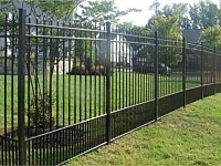 <b>Alumi-Guard Residential Belmont Puppy Picket Pressed Spear Aluminum Fence</b>