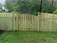 <b>French Gothic Spaced Picket Wood Fence with French Gothic Posts</b>