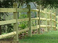 <b>3 Rail Split Rail Wood Fence</b>