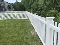 <b>4 foot high Contemporary Straight Top Vinyl Picket Fence</b>