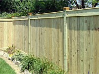 <b>Vertical Board Wood Privacy Fence with a Flat Top</b>