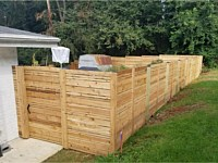 <b>6 foot high Custom Horizontal Cedar Privacy Fence with Gate</b>