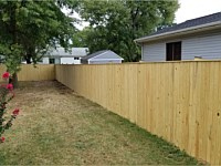 <b>6 foot high Pressure Treated Vertical Board Privacy Fence</b>
