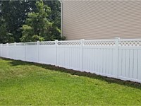 <b>6 foot high Semi Private White Vinyl Fencing with Lattice Top</b>