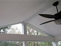 <b>A Bead board ceiling provides a great finished look and brightens your new space</b>
