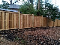 <b>Cedar Board on Board Privacy Fence with Fascia Board Top and Bottom</b>