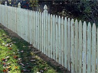 <b>Gothic Spaced Picket Wood Fence with French Gothic Posts</b>