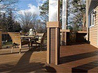<b>Trex Transcend Decking in Lava Rock and Enhance Decking in Beach Dune with Trex Fascia in Beach Dune & Lava Rock</b>