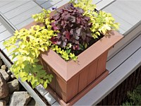 <b>A beautiful low maintenance weather-resistant planter box made of composite deck boards that will last for many years to come.</b>