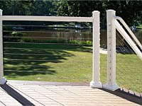 <b>White Aluminum Railing with cable rail</b>