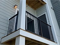 <b>Black Aluminum Balcony Railing in the courtyard at Monarch at Waugh Chapel in MD 2</b>