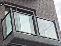 <b>Glass panel and aluminum balcony railing at The National in Baltimore City, MD 2</b>