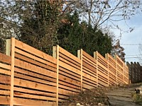 <b>Horizontal Cedar Fence with Alternating sized Boards</b>