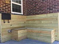 <b>Pressure Treated Wood Decking on the Walls of the front of the homes at Lyons Estate in Baltimore MD 2</b>