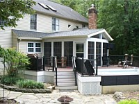 <b>Screened Room with Eze-Breeze & Deck in Crofton MD</b>