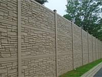 <b>Simtek EcoStone Brown Granite Fence used for sound barrier</b>