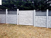 <b>Simtek EcoStone and Aluminum Top Rail with Gate</b>