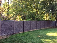 <b>Simtek Ecostone Dark Brown Granite Privacy Fence</b>