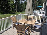 <b>TimberTech Azek Harvest Collection Slate Gray Deck Boards with White Washington Vinyl Railing in Edgemere MD</b>