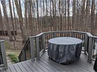 <b>TimberTech Pro Legacy Espresso with Trex Composite Gravel Path Railing Black Aluminum Balusters And Timbertech Espresso Cap Board</b>