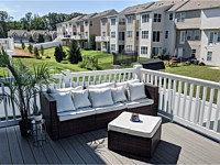 <b>TimberTech Terrain Silver Maple Deck Boards with White Vinyl Washington Railing in Aberdeen MD 2</b>