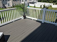 <b>TimberTech Terrain Silver Maple Deck Boards with White Vinyl Washington Railing in Aberdeen MD 1</b>