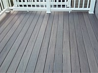 <b>TimberTech Terrain Silver Maple Deck Boards with White Vinyl Washington Railing in Millersville MD</b>