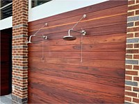 <b>Wood Decking on the walls of the outdoor shower at Monarch at Waugh Chapel</b>